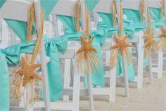 starfish wedding chair decorations beach wedding chairs for interesting beach wedding chairs Beach Wedding Aisles, Wedding Aisle Decorations, Beach Ceremony, Wedding Pics, Wedding Themes, Our Wedding, Destination Wedding, Dream Wedding, Wedding Ideas