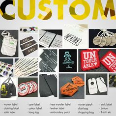 Custom woven label / hang tag / satin label / leather label / cotton label / embroidery patch / woven patch / heat transfer label / shopping bag / dust bag / sticker / t-shirt etc. welcome to our alibaba online shop: www.ilabelz.cn