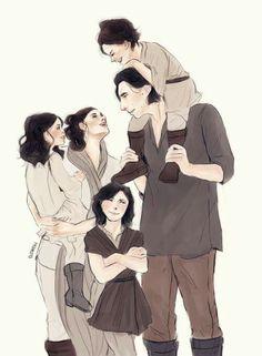 Art by Elithien the Solo family  Via: elithien.tumblr.com