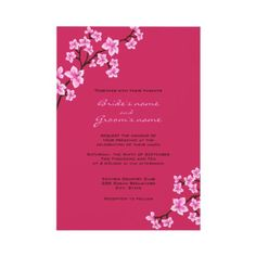 Cherry Blossom #Wedding #Invitations Maybe with purple names...