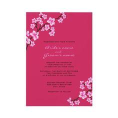 Cherry Blossom #Wedding #Invitations