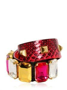 Designer Clothes, Shoes & Bags for Women Snake Bracelet, Bangle Bracelets, Bangles, Denim Purse, Luxury Shop, Handmade Bracelets, Studs, Fashion Jewelry, Crystals