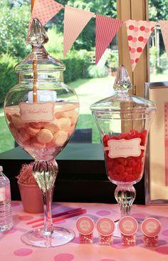Pink Candy Bar Bar A Bonbon, Rose Bonbon, Tout Rose, Wedding Details, Wedding Ideas, Quinceanera Ideas, Candy Bars, Pink Parties, Sister Wedding