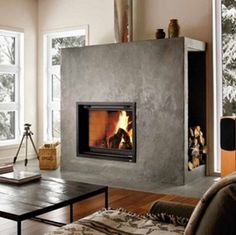 Valcourt-FP7-Antoinette by Nordic Energy zero clearance wood burning fireplace