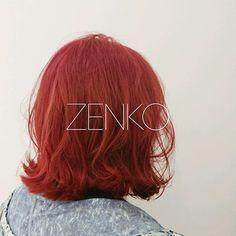 WEBSTA @ kota_kikuchi_ - ShockingPink!🙆⚡ #Hair #ZENKO #color #shockingpink  #shockingred #hightorn #beautician #red #pink…