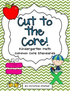 Freebie!! Kindergarten Common Core Math Standards