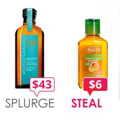 Inexpensive dupes of more costly hair products.