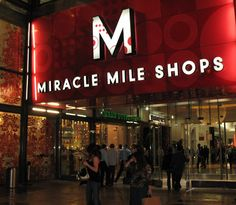 Miracle Mile Shops entrance at Planet Hollywood in Las Vegas is pictured here from the Strip.