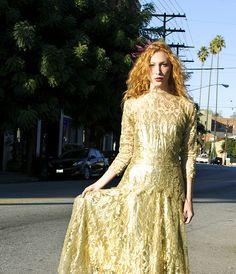 My Gold Lace Dress