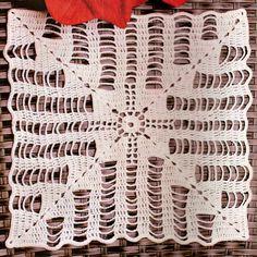 toalhinha em croche square quadrado mesa em croche com receita