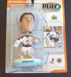 2001/2002 NHL PLAY MAKERS PATRICK ROY BOBBLEHEAD BY UPPER DECK **FREE SHIPPING** #PlayMakersbyUpperDeck #ColoradoAvalanche