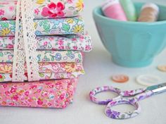 Japanese Liberty-inspired fabrics love love love tiny florals! - Pretty By Hand