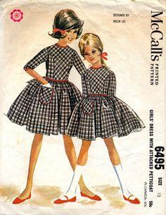 vintage 1962 HELEN LEE design girls DRESS
