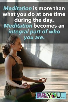 Meditation is more than what you do at one time during the day. Meditation becomes an integral part of who you are. #naturalhealing #meditation #loa Mindfulness For Beginners, Mindfulness For Kids, Meditation For Beginners, Daily Meditation, Healing Meditation, Mindfulness Meditation, Meditation Scripts, Meditation Practices, Spiritual Guidance