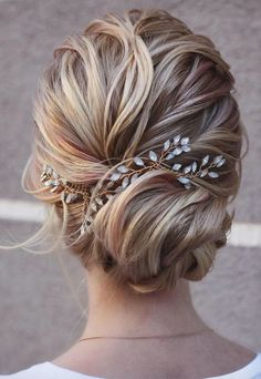 May 2020 - Bridal hair piece Crystal Opal hair comb Blue Opal Bridal hair Bridal Hair Updo, Bridal Hair Vine, Wedding Hair And Makeup, Hair Wedding, Hairstyle Wedding, Wedding Bride, Ibiza Wedding, Wedding Hijab, Wedding Rings