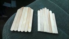 Two unfinished doors for fairy or gnome houses made from popsicle sticks