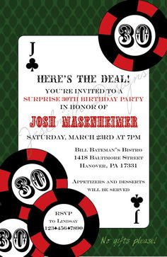Poker party invitation diy printable party invitation 4x6 or 5x7 project wedding is now weddingwire stopboris Images