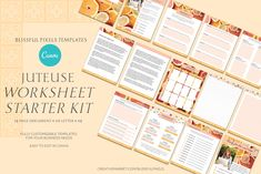 Juteuse - Lead Magnet Worksheets Kit by Blissful Pixels on Lead Magnet, Working On It, Email Templates, Call To Action, Proposal Templates, Web Browser, Cover Pages, Worksheets, Magnets