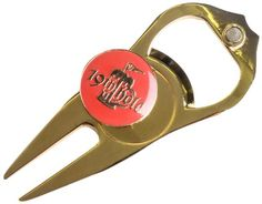 Hat Trick Openers 6in1 Golf Divot Tool 19th Hole Logo Gold >>> Continue to the product at the image link.