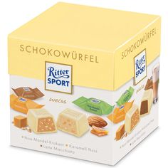 -in USA- Ritter Sport Chocolate Cubes - White Chocolate -176 g