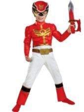 Toddler Boys Red Ranger Muscle Costume - Power Rangers Megaforce - Party City