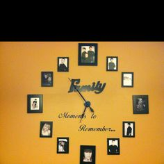 My homemade clock! : This would be soo cute for a 1 year anniversary... or a 12 year anniversary!!!