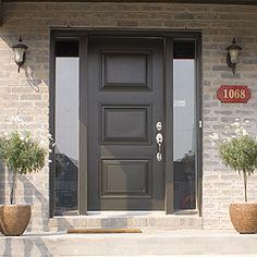 exterior doors | Exterior door with 2 glassed sidelights
