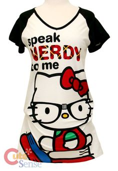 hello kitty for women | Sanrio Hello kitty Women Long Shirts, Pajama Top-Nerd :X- Large at ...
