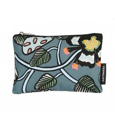 Marimekko Tiara Keiju Zip Pouch Perfect for stashing anything from quarters to cosmetics, this little carryall by Marimekko is the answer to your small storage woes. The cotton canvas zip pouch has an easy-to-clean PVC lining. Waxed Canvas, Cotton Canvas, Marimekko Bag, Bag Making, Print Patterns, Pouch, Shoulder Bag, Purses, Zip