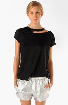 maje 'Algues' Cutout Tee available at #Nordstrom