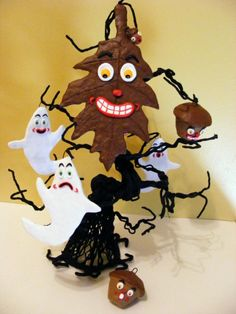 Oak Leaf and Acorn Folk Art Ornament by seasonsart1031 on Etsy