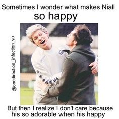 Who cares why he's so happy as long as he is happy.
