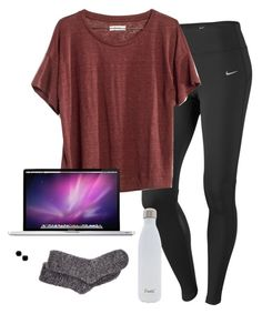 """my kind of Sunday :))"" by kitkatdana ❤ liked on Polyvore featuring NIKE, Madewell, S'well, Charter Club and Kate Spade"