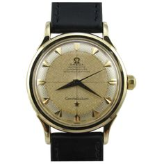 Constellation Gold Rare Exceptional 2-Tone Textured Dial by Omega