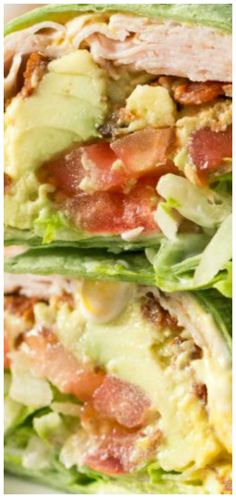 California Turkey Club Wrap with turkey, bacon, avocado, tomato and lettuce. A healthy and delicious balanced lunch! This is one of my favorite lunches. Sandwiches just taste better in a wrap! Turkey Recipes, Lunch Recipes, Gourmet Recipes, Keto Recipes, Cooking Recipes, Healthy Recipes, Sweet Recipes, Sin Gluten, Paleo