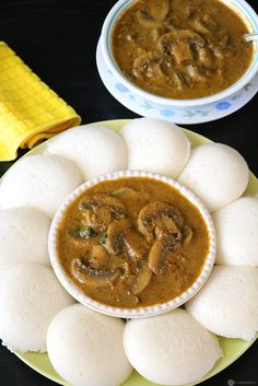Mushroom Kurma is a spicy and mouthwatering Indian gravy which is easy to make and perfect with idli/dosa/rice or indian flatbreads like chapati. Mushroom Recipes Indian, Indian Veg Recipes, Kerala Recipes, Curry Recipes, Vegetarian Recipes, Cooking Recipes, South Indian Breakfast Recipes, White Sauce Recipes, Curry Dishes