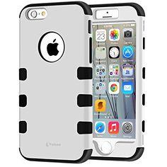 Vakoo® iPhone 6 Plus 5.5'' Hülle Case [Ganzkörper Hüllen] Hybride Stoßfest Handy Schützende Protective Case Armor Bumper Rückschale Tasche Cover Etui für Apple iPhone 6 Plus 5.5 Zoll (Weiß) von Vakoo, http://www.amazon.de/dp/B00YON8RMM/ref=cm_sw_r_pi_dp_dFVowb07F6RHB