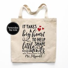 Teacher Gifts, Teacher Tote Bag Personalized, Gifts for Teachers, Cute Teacher Bag, Teacher Apprecia