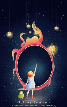 Dream colorful world Beautiful Gif, Beautiful Artwork, Gifs, Christmas Illustration, Illustration Art, Good Night Gif, Fairytale Art, Character Design Animation, Cute Gif