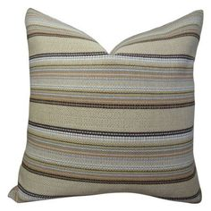 Plutus Camp Evergreen Seaweed Handmade Throw Pillow, Double Sided, Multicolor