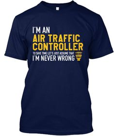 Air Traffic Controller   Limited Edition Navy T-Shirt Front