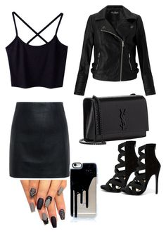 """""""all black date night"""" by krissy2003 on Polyvore featuring Liliana, McQ by Alexander McQueen, Miss Selfridge and Yves Saint Laurent"""