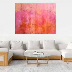 In the pink fog - XXL abstract - Ivana Olbricht Kids Diary, Shades Of Purple, Couch, The Originals, Abstract, Room, Pink, Furniture, Artist