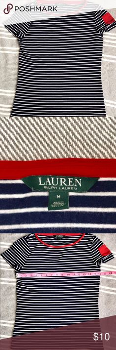 Ralph Lauren Shirt with Cute Pocket on Sleeve Ralph Lauren Shirt with Cute Pocket on Sleeve Size M See pictures for measurements! 🙂 Lauren Ralph Lauren Tops Blouses