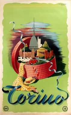 Torino Turin Enit, 1949 - original vintage poster by Tappa Crea listed on AntikBar.co.uk