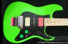 Wayne Guitars - Green Meanie Model (Steve Vai fashion)
