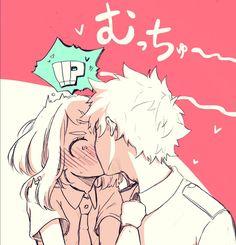 Deku x Ochako Boku No Hero Academia, My Hero Academia Memes, Hero Academia Characters, My Hero Academia Manga, Cute Anime Pics, Cute Anime Couples, Anime Love, Moe Anime, Manga Anime
