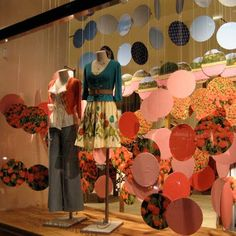 polka dot window display