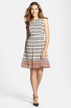 Halogen Pleated Fit & Flare Dress ($98)