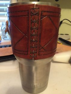 Yeti Rambler 30oz Leather Sleeve